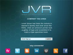 JVR Innovations Launch Page