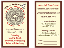 Life In Focus Business Card