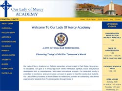OOur Lady of Mercy Academy by Marisol Sauer, SmartSiteDesigns.co