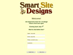Smart Site Designs Coming Soon Page