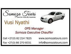 Somoza Tours Business Card