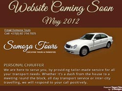 Somoza Tours Chauffer Service Coming Soon Page